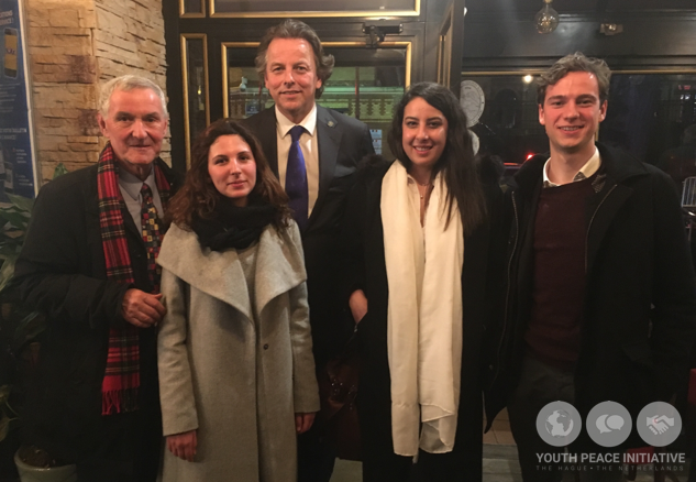 YPI at Paris Peace Conference where delegates met with Bert Koenders (Minister of Foreign Affairs of The Netherlands)